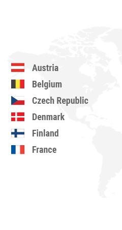 Austria, Belgium, Bulgaria, Croatia, Cyprus, Czech Republic, Denmark, Estonia, Finland, France, Germany